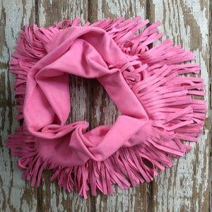 Pink Moleskin Infinity Scarf